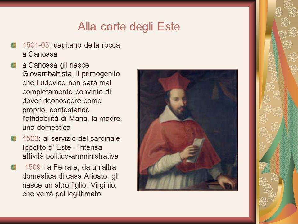 Alla corte degli Este 1501-03: capitano della rocca a Canossa