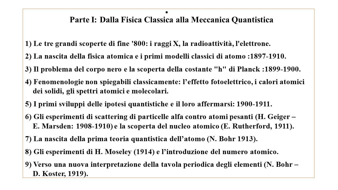Parte I: Dalla Fisica Classica alla Meccanica Quantistica