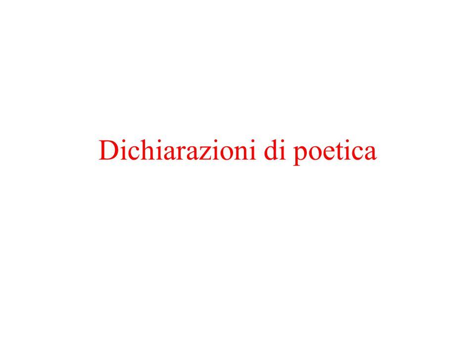 Dichiarazioni di poetica