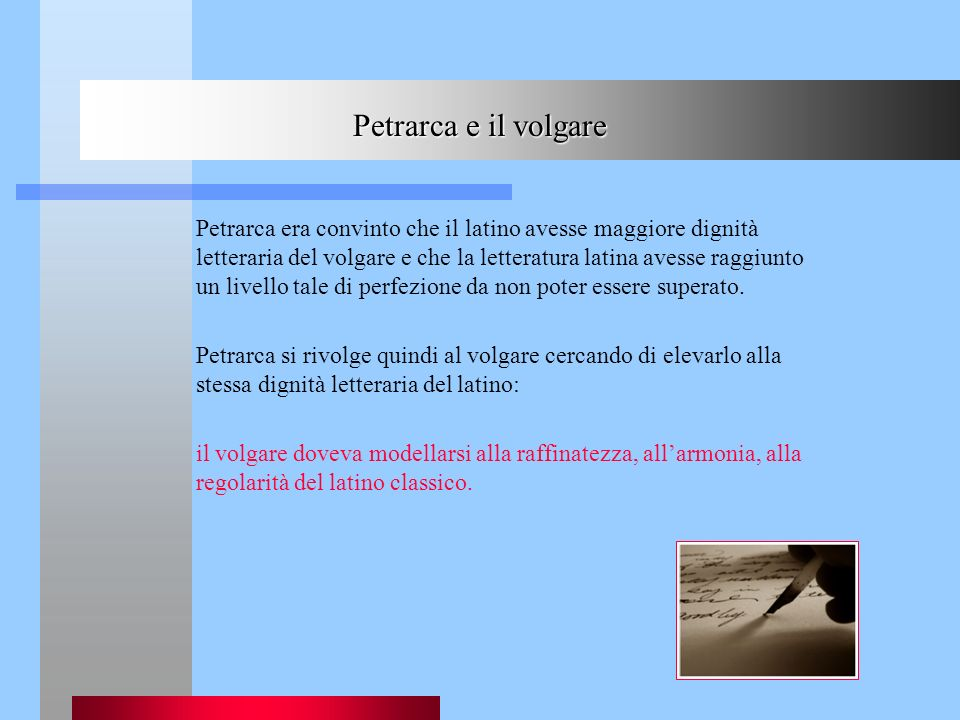 Petrarca e il volgare
