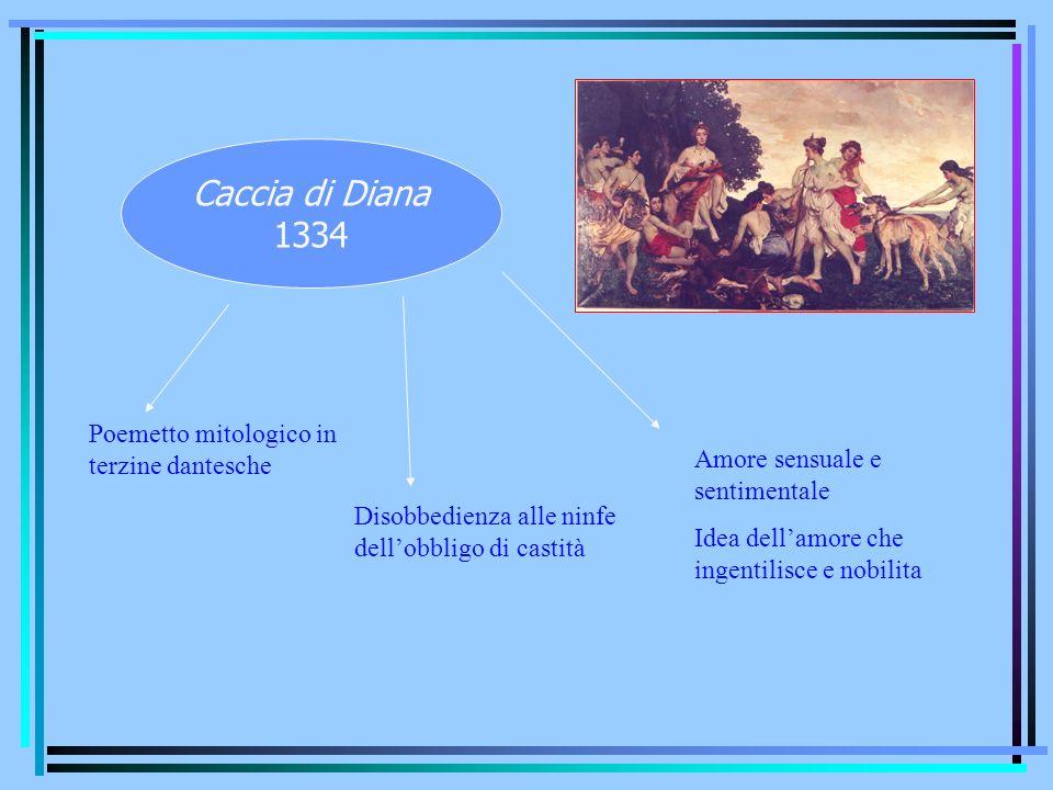 Caccia di Diana 1334 Poemetto mitologico in terzine dantesche