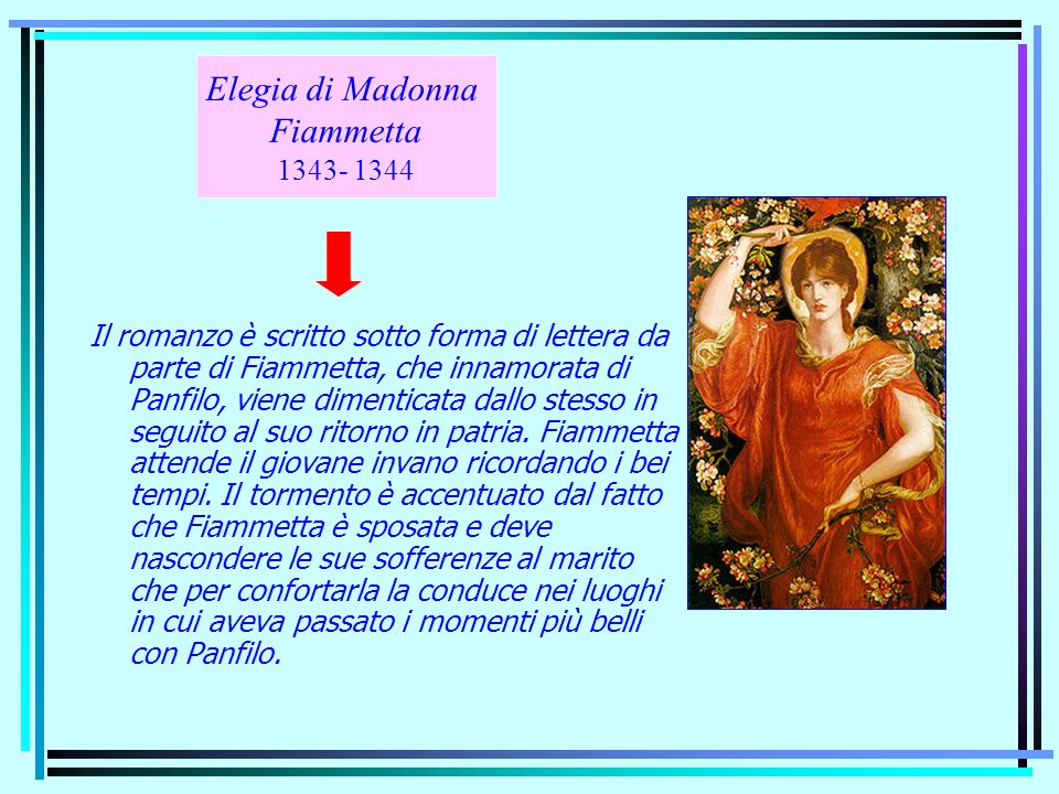 Elegia di Madonna Fiammetta 1343- 1344