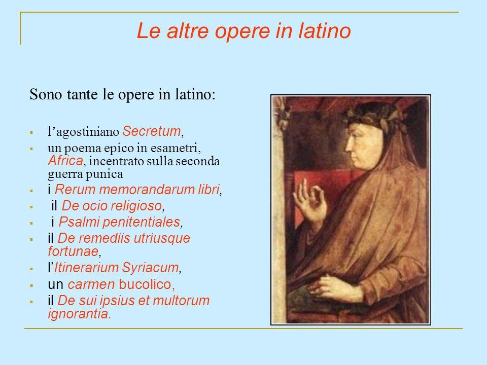 Le altre opere in latino