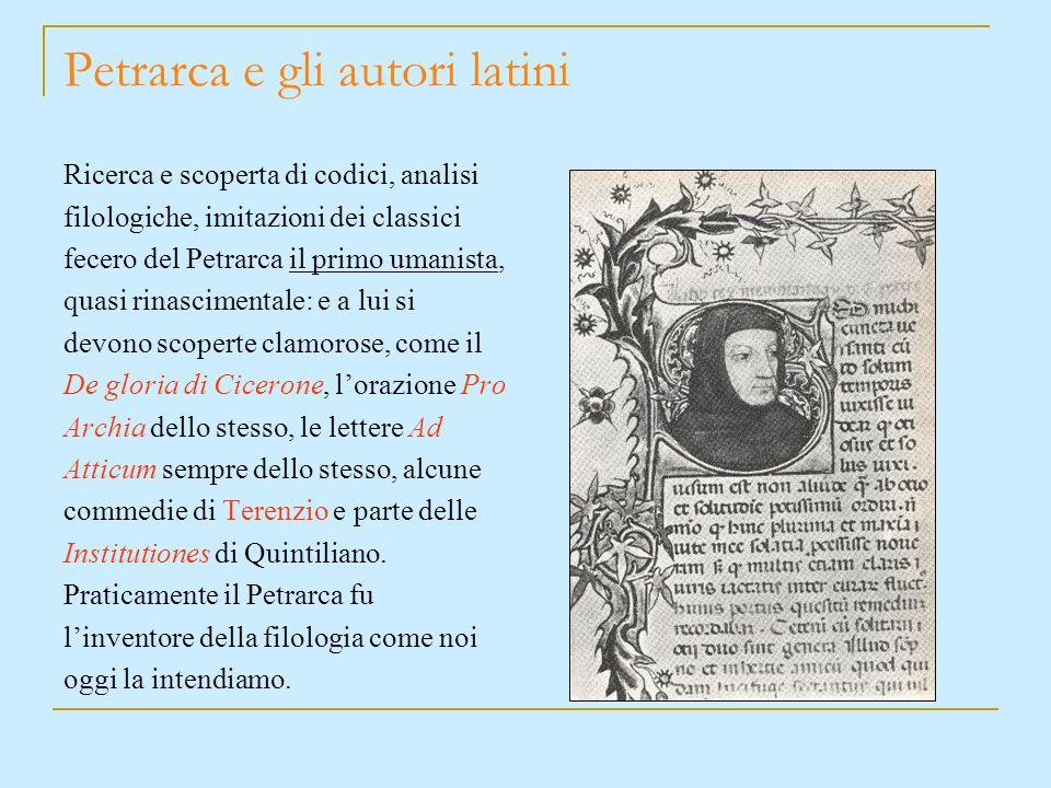 Petrarca e gli autori latini