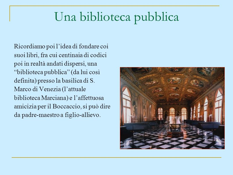 Una biblioteca pubblica