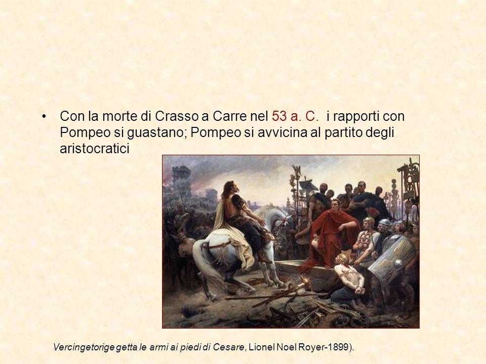 Con la morte di Crasso a Carre nel 53 a. C