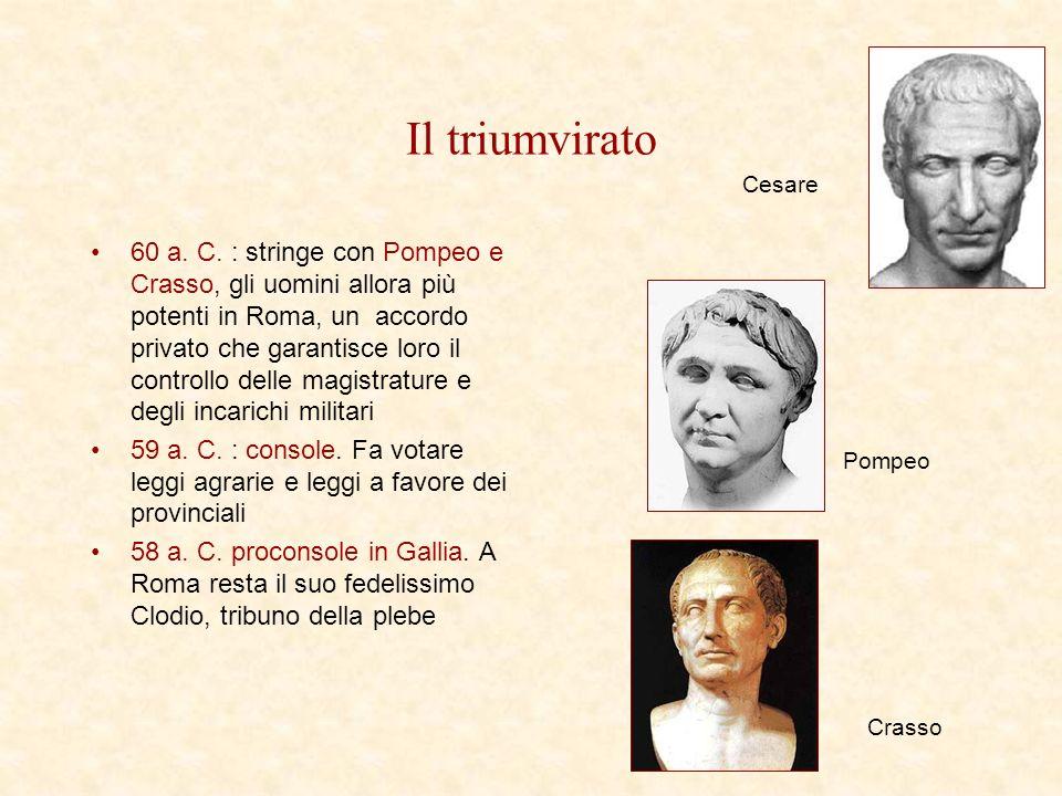 Il triumvirato Cesare.