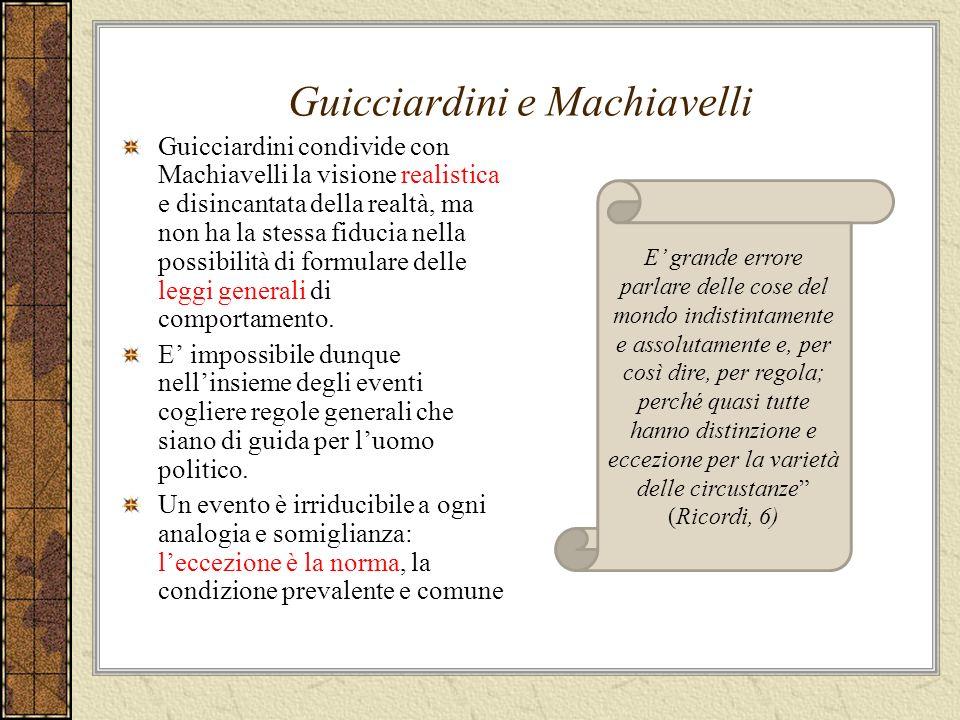 Guicciardini e Machiavelli
