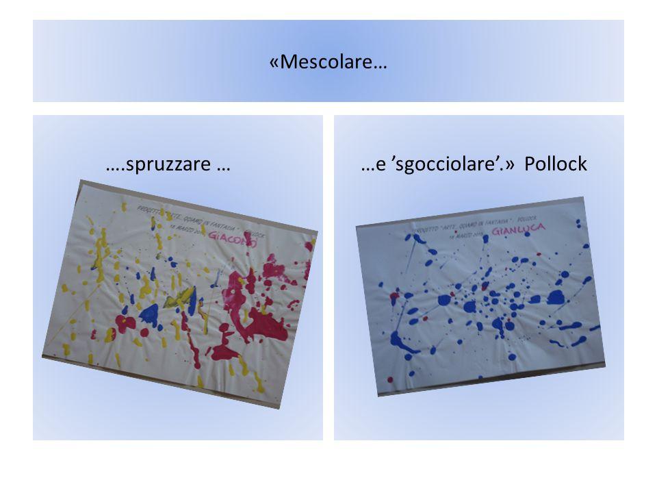 «Mescolare… ….spruzzare … …e 'sgocciolare'.» Pollock