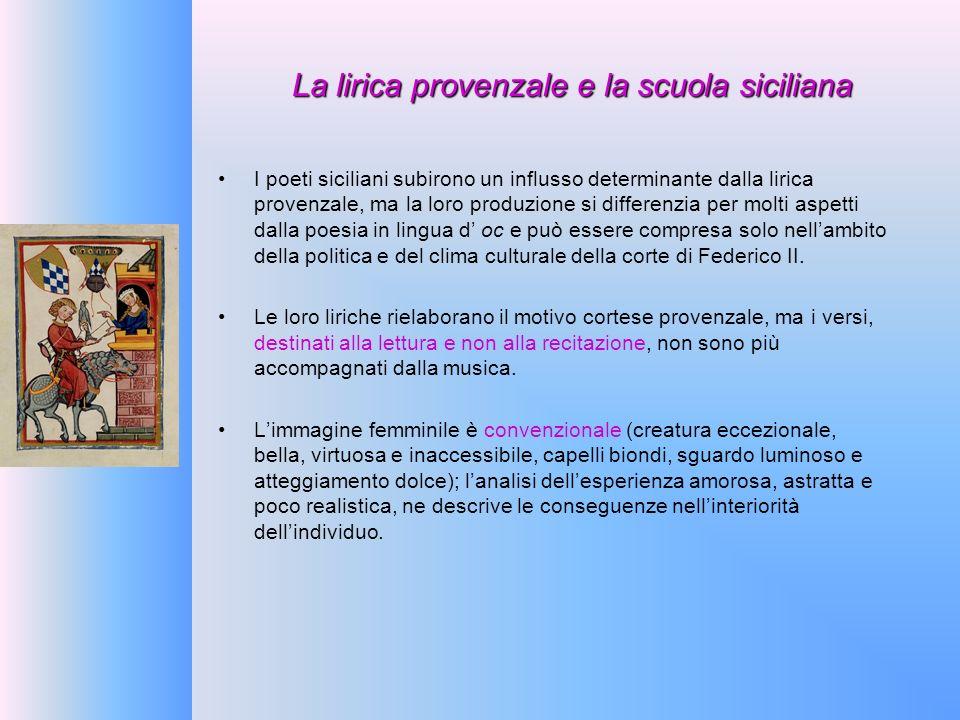 La lirica provenzale e la scuola siciliana
