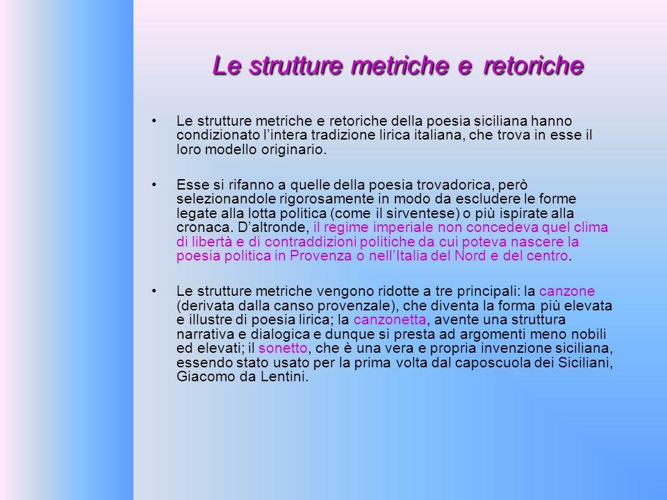 Le strutture metriche e retoriche