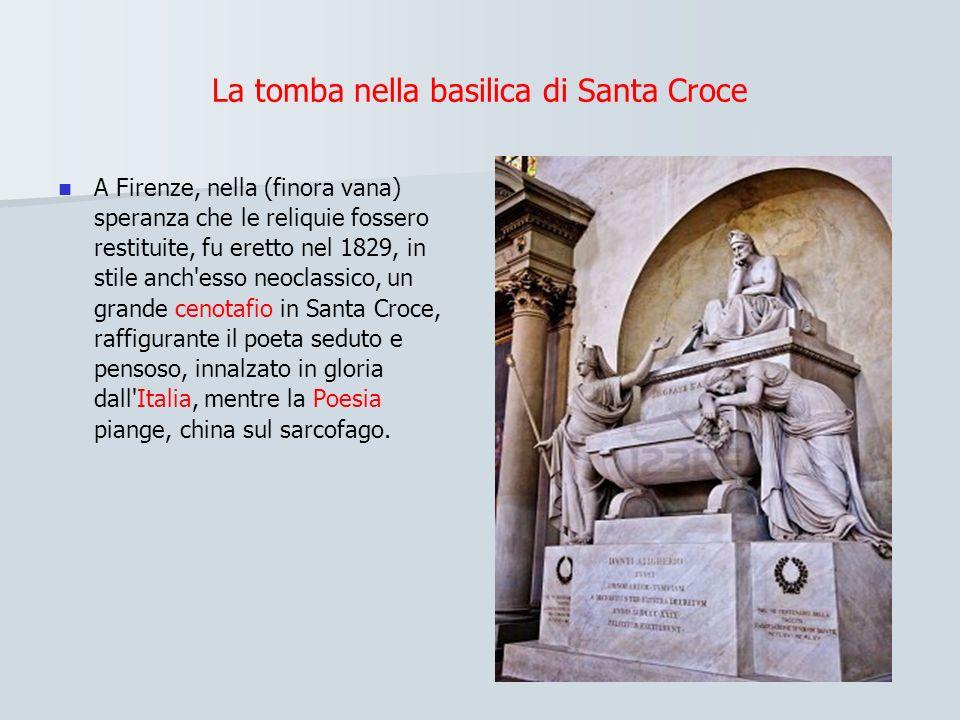 La tomba nella basilica di Santa Croce