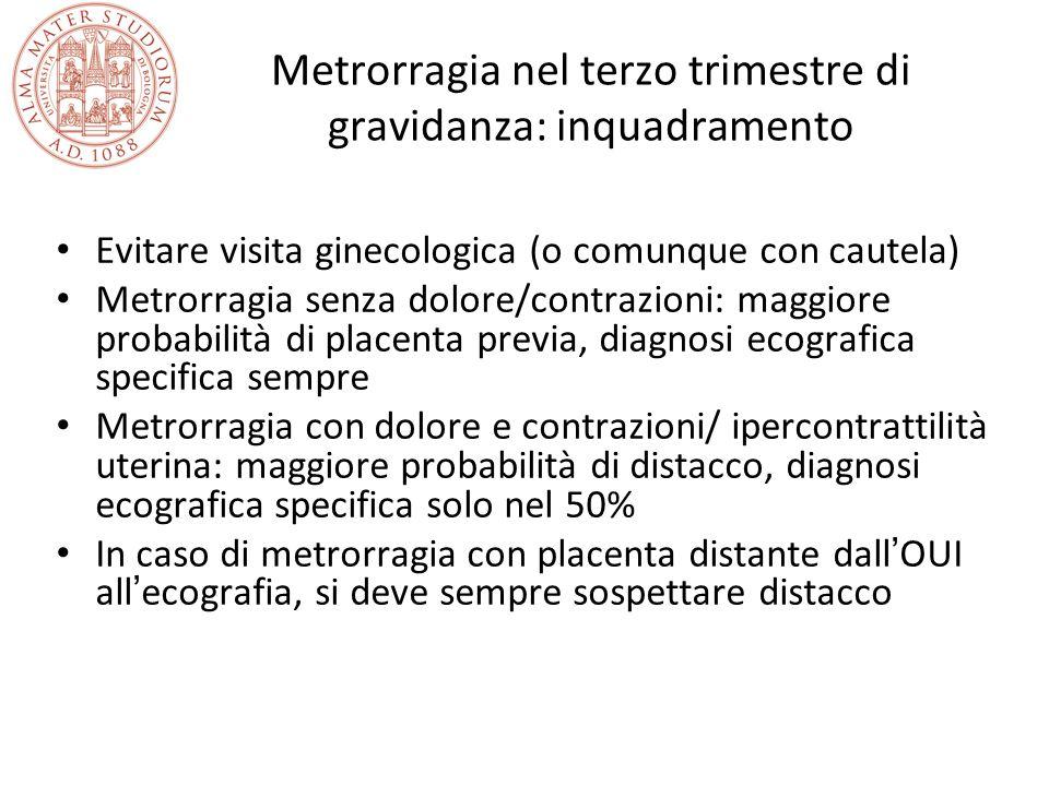 Metrorragia nel terzo trimestre di gravidanza: inquadramento