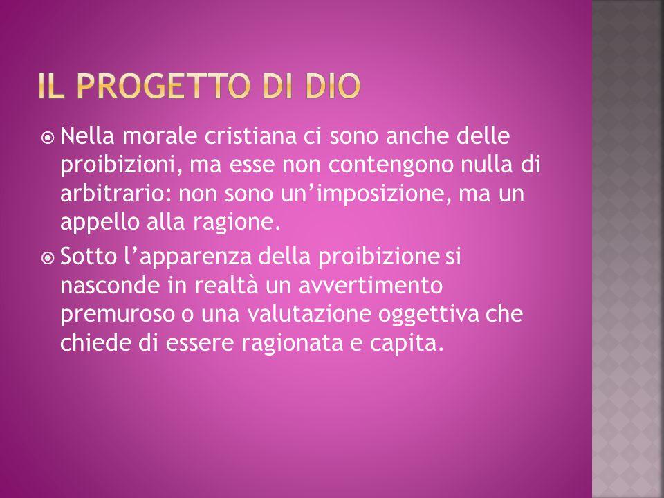Il progetto di Dio
