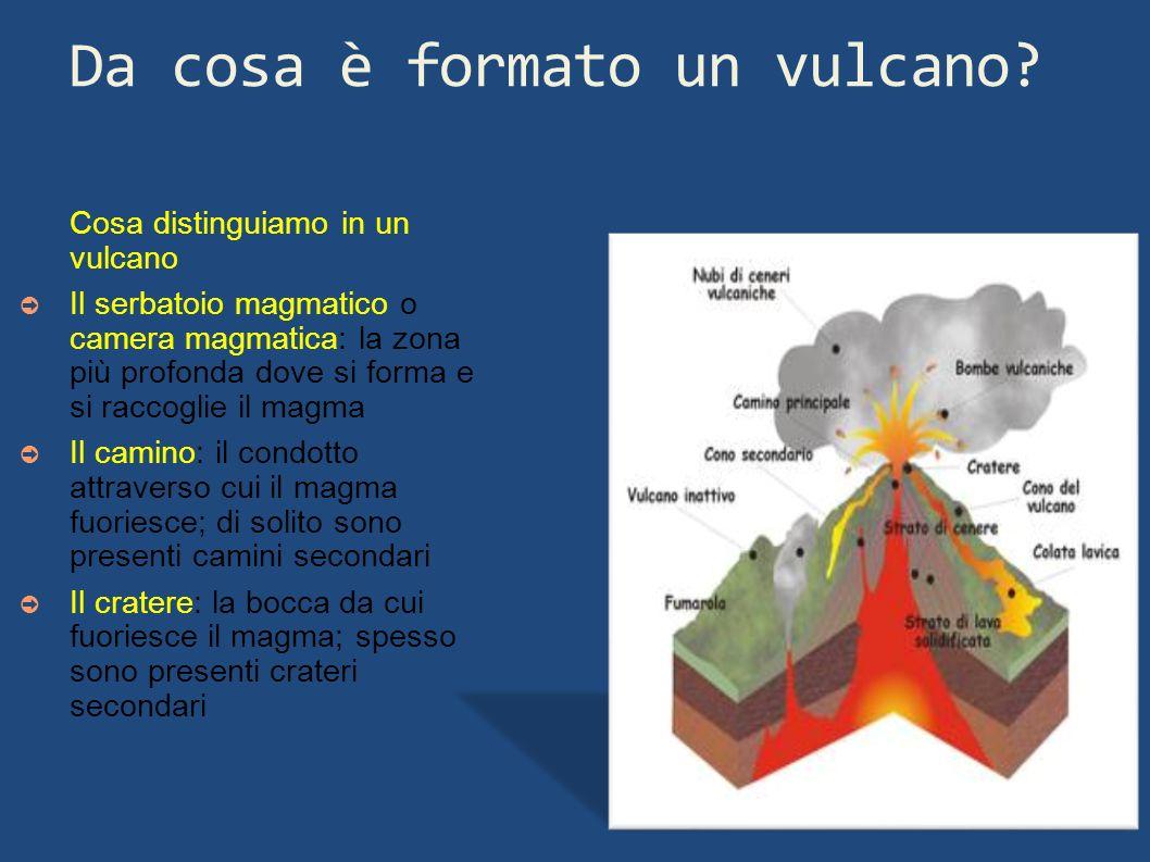 Da cosa è formato un vulcano
