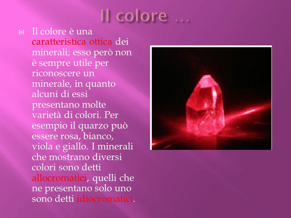 Il colore …