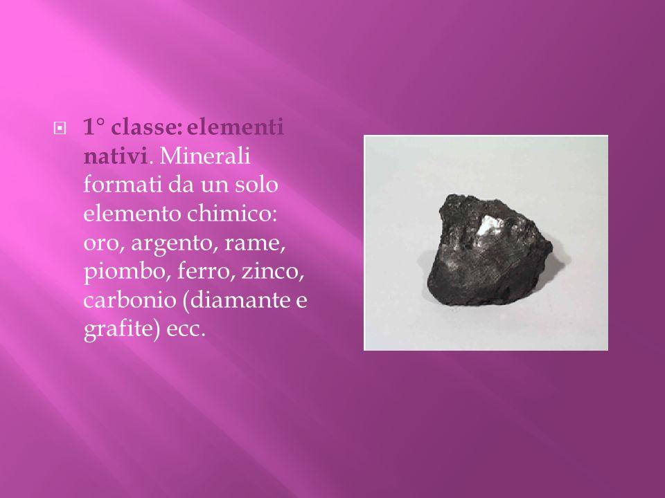 1° classe: elementi nativi
