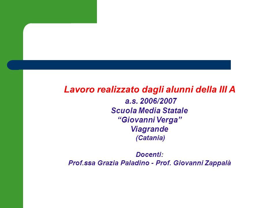 Lavoro realizzato dagli alunni della III A a.s. 2006/2007