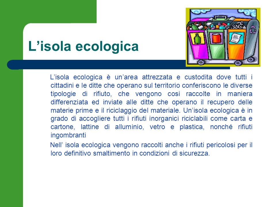 L'isola ecologica