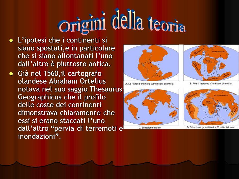 Origini della teoriaL'ipotesi che i continenti si siano spostati,e in particolare che si siano allontanati l'uno dall'altro è piuttosto antica.