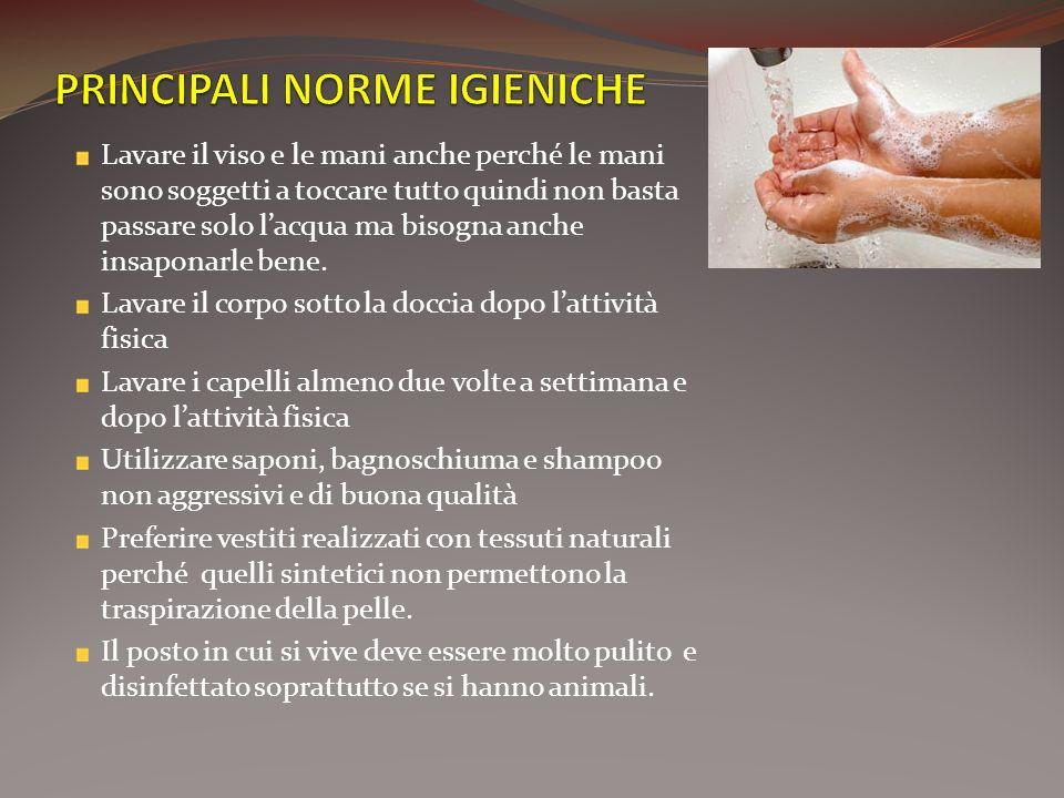 PRINCIPALI NORME IGIENICHE
