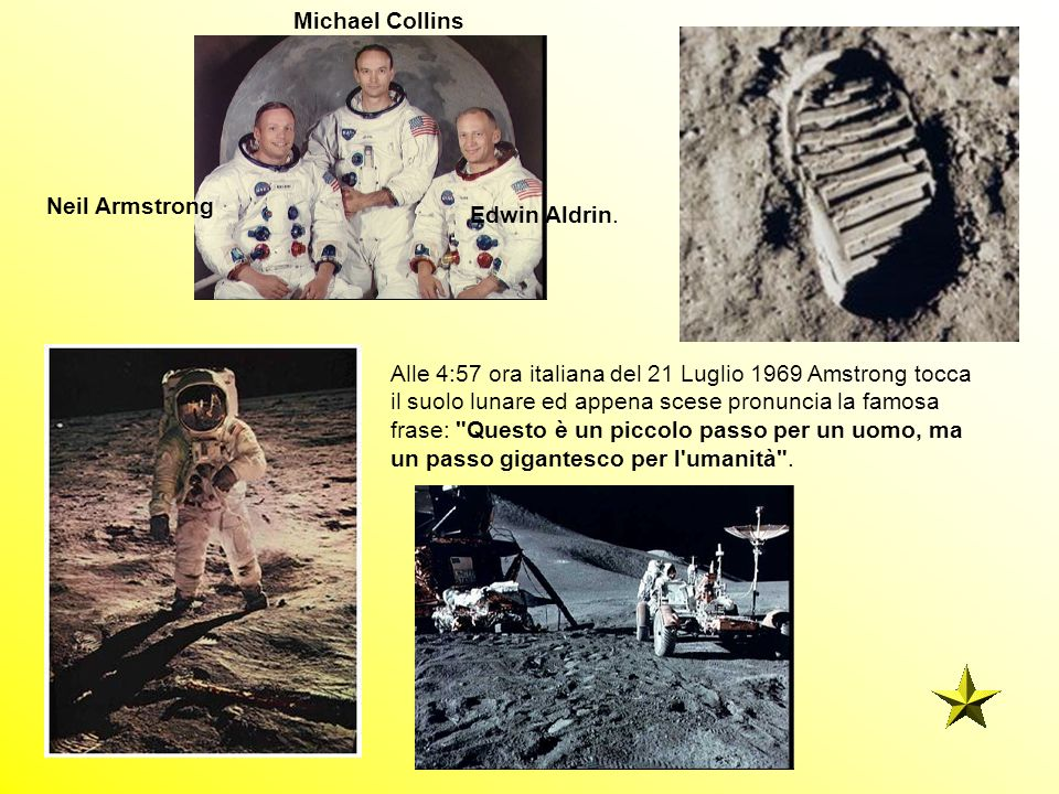 Michael Collins Neil Armstrong. Edwin Aldrin.