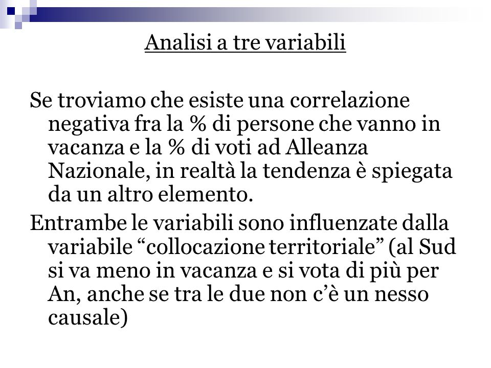 Analisi a tre variabili