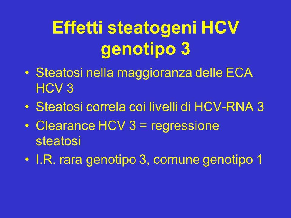 Effetti steatogeni HCV genotipo 3
