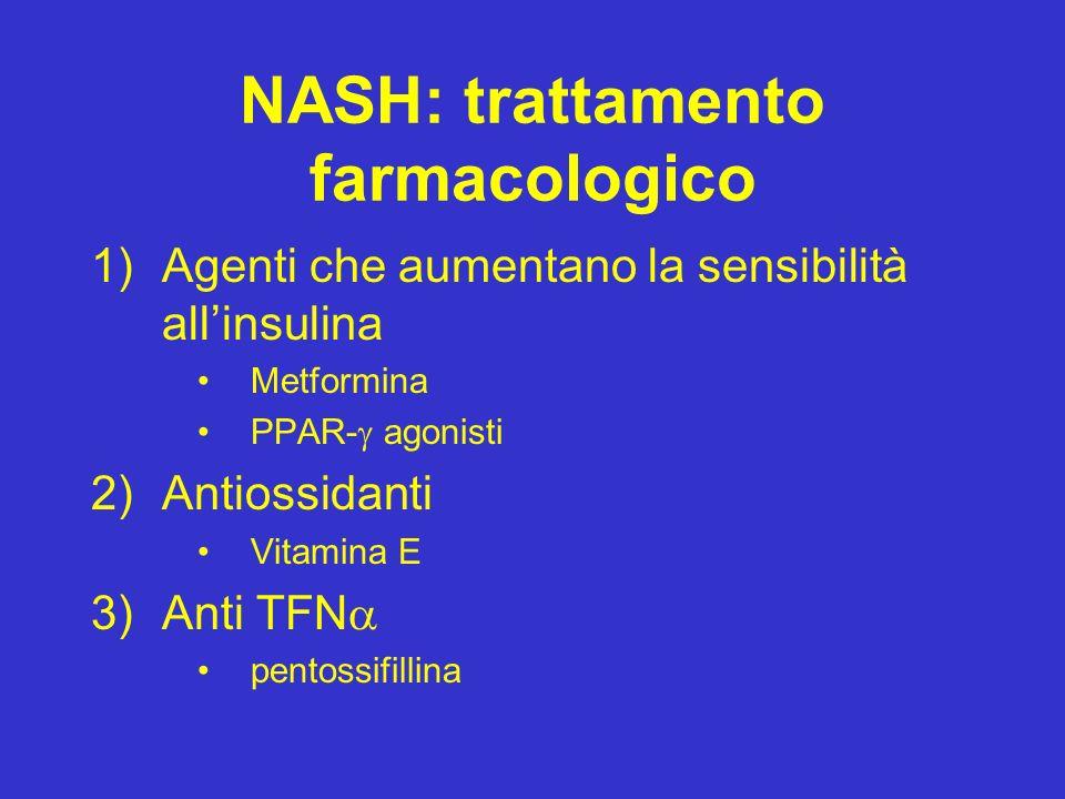NASH: trattamento farmacologico