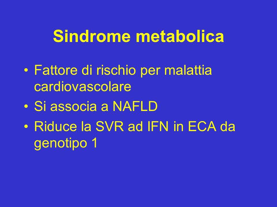 Sindrome metabolica Fattore di rischio per malattia cardiovascolare