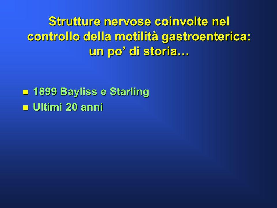Strutture nervose coinvolte nel controllo della motilità gastroenterica: un po' di storia…