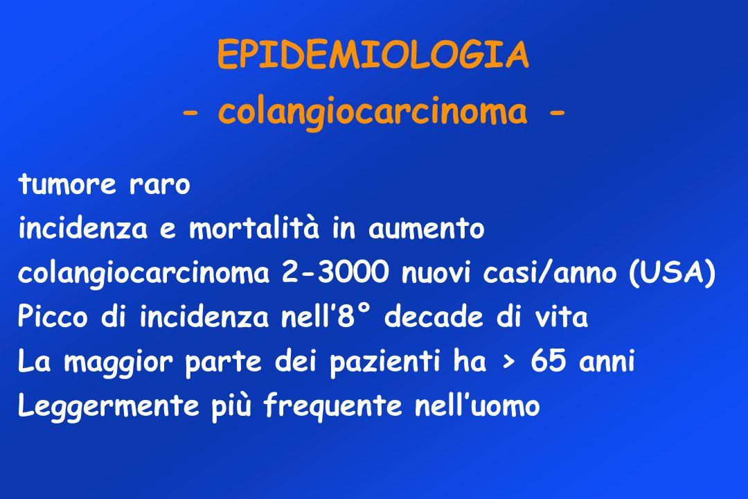 EPIDEMIOLOGIA - colangiocarcinoma -