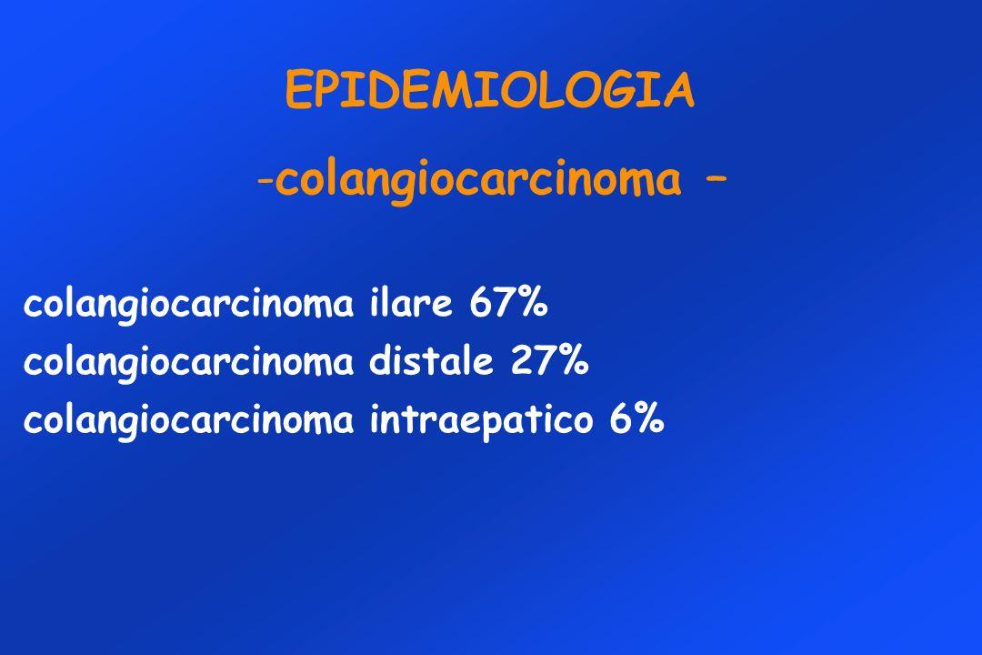 EPIDEMIOLOGIA colangiocarcinoma –