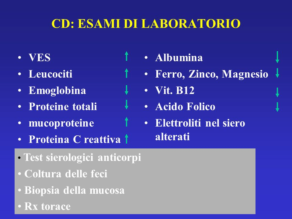 CD: ESAMI DI LABORATORIO