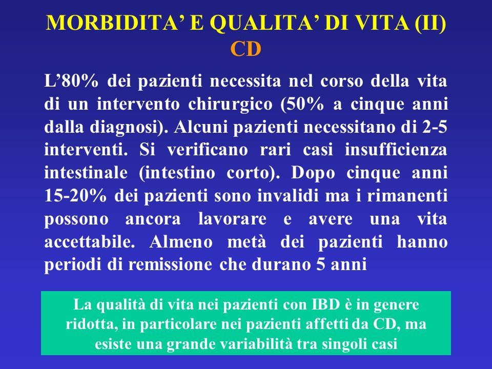 MORBIDITA' E QUALITA' DI VITA (II) CD