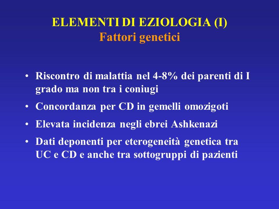 ELEMENTI DI EZIOLOGIA (I) Fattori genetici