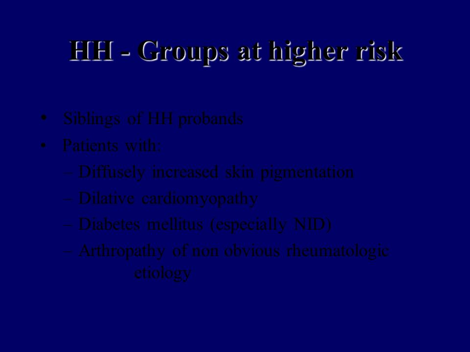 HH - Groups at higher risk