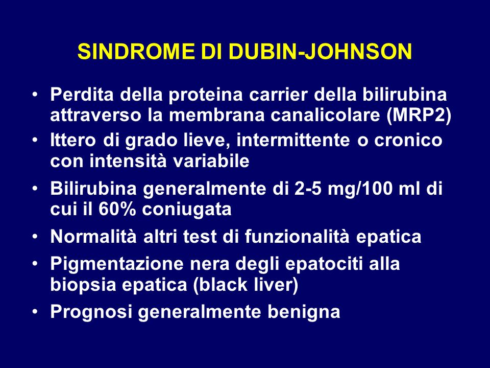 SINDROME DI DUBIN-JOHNSON