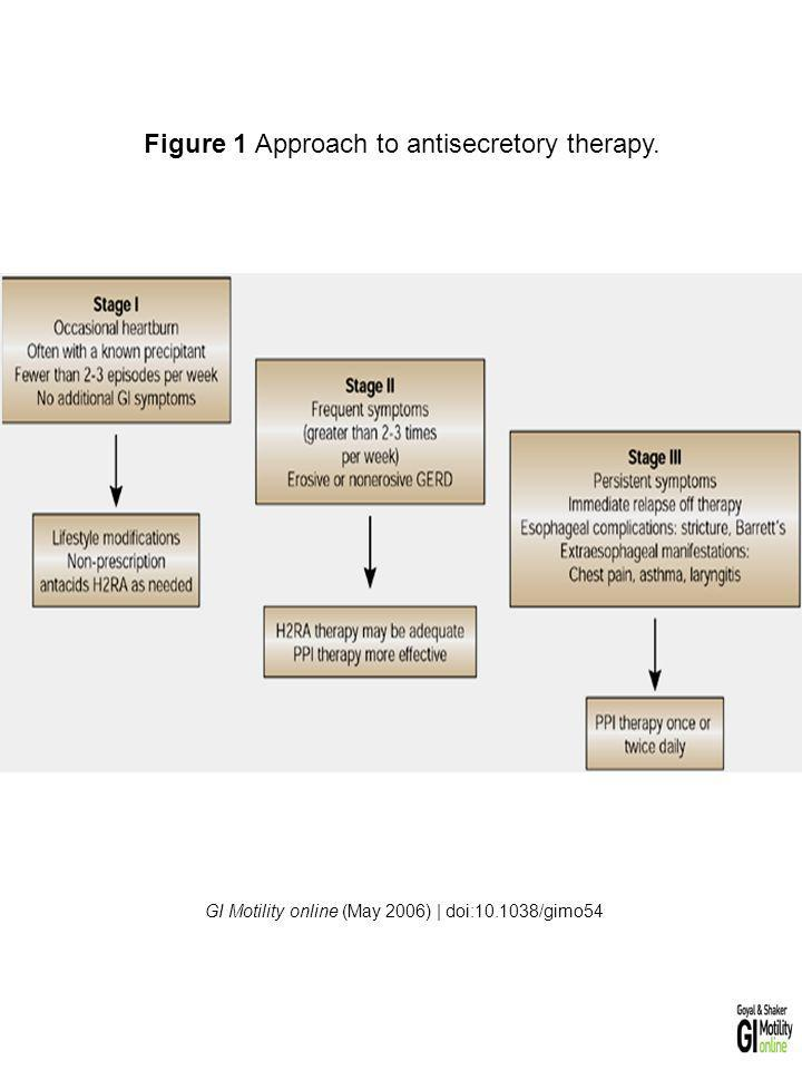 Figure 1 Approach to antisecretory therapy.