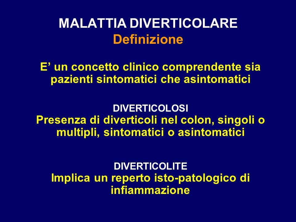 MALATTIA DIVERTICOLARE Definizione
