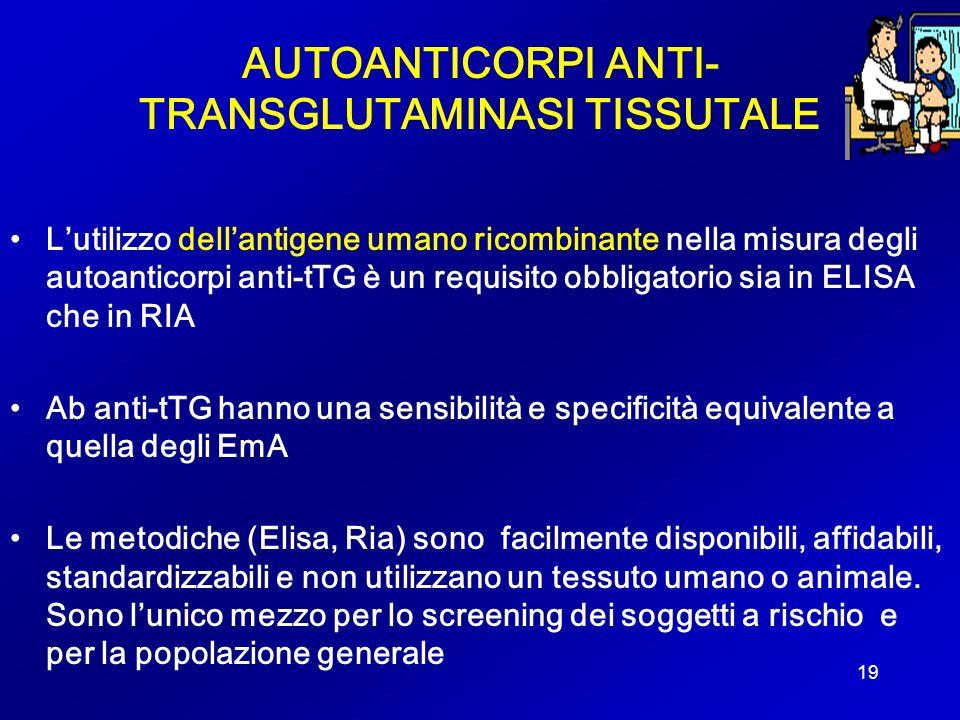 AUTOANTICORPI ANTI- TRANSGLUTAMINASI TISSUTALE