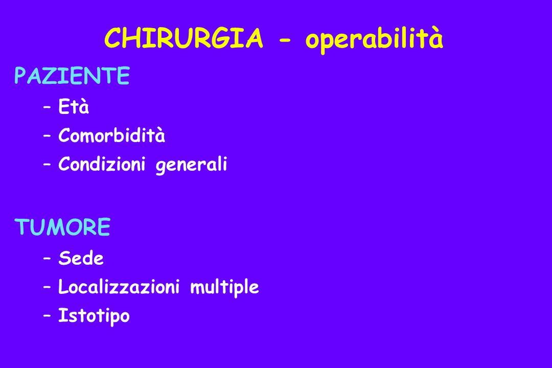 CHIRURGIA - operabilità