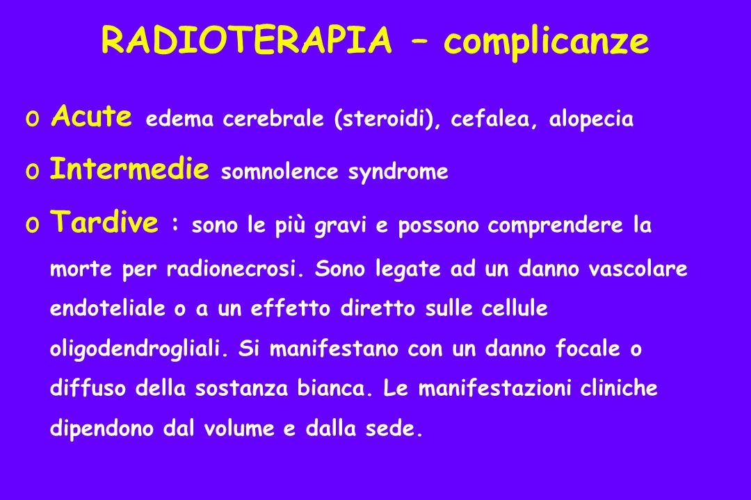 RADIOTERAPIA – complicanze