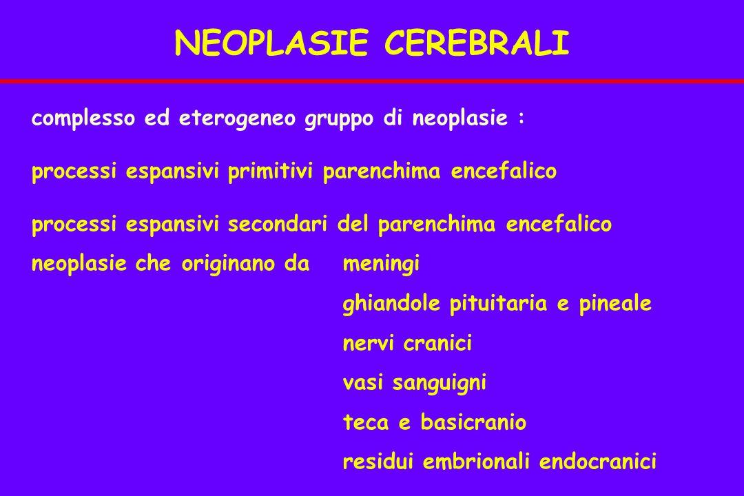 NEOPLASIE CEREBRALI complesso ed eterogeneo gruppo di neoplasie :