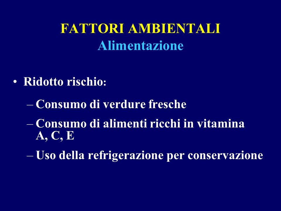 FATTORI AMBIENTALI Alimentazione