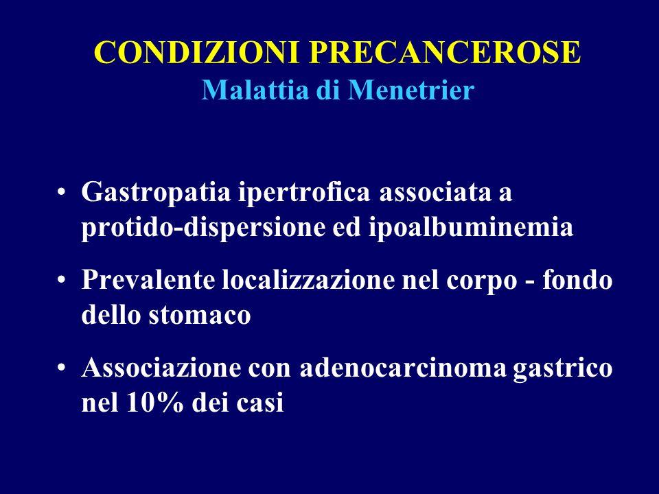 CONDIZIONI PRECANCEROSE Malattia di Menetrier