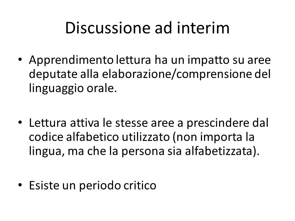 Discussione ad interim