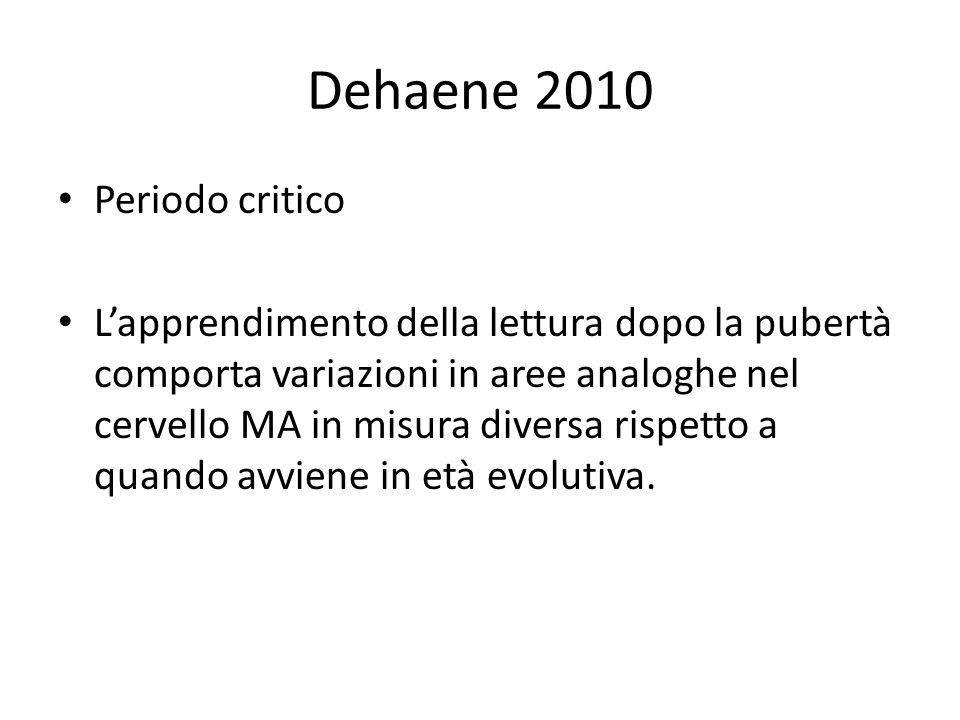 Dehaene 2010 Periodo critico