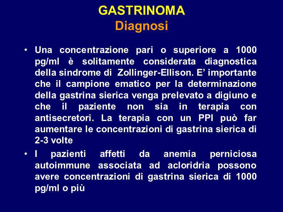 GASTRINOMA Diagnosi