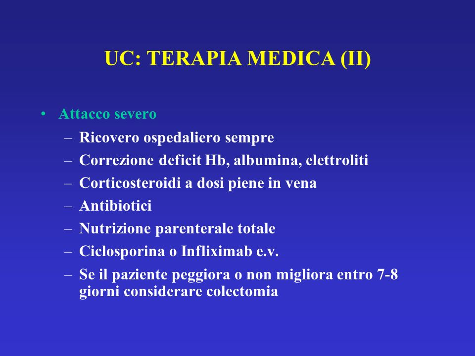 UC: TERAPIA MEDICA (II)